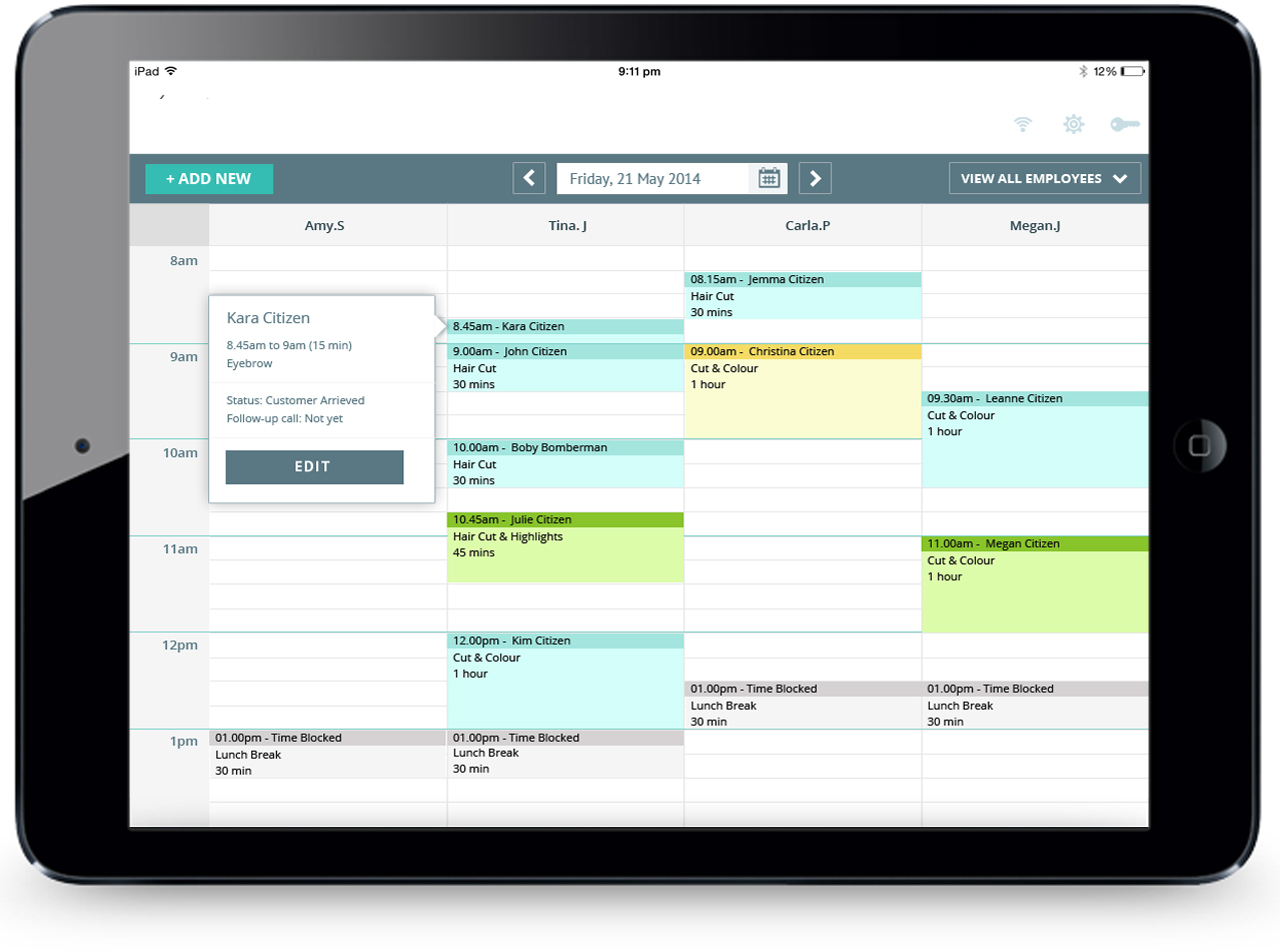 Hike Software - Appointment book