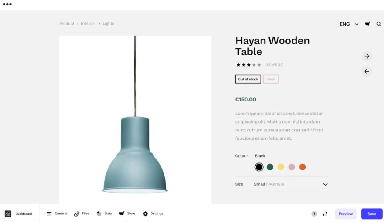 Voog custom product page