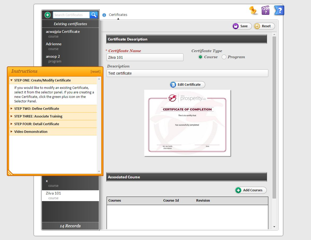 Prosperity LMS Software - User Interface
