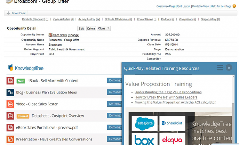 Use KnowledgeTree from within Salesforce