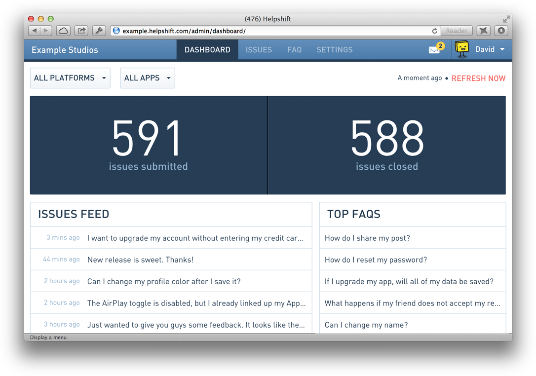 Helpshift delivers actionable and critical data in a new dashboard