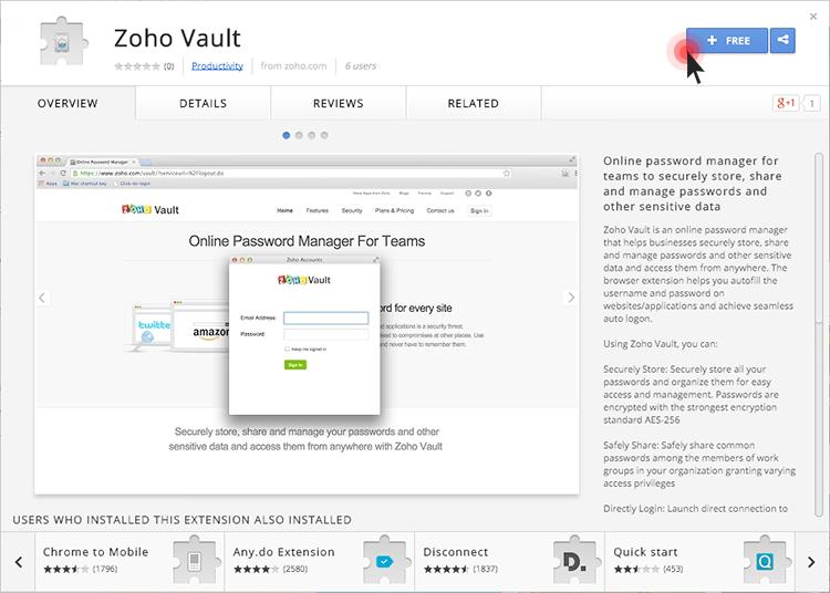 Zoho Vault Software - 1
