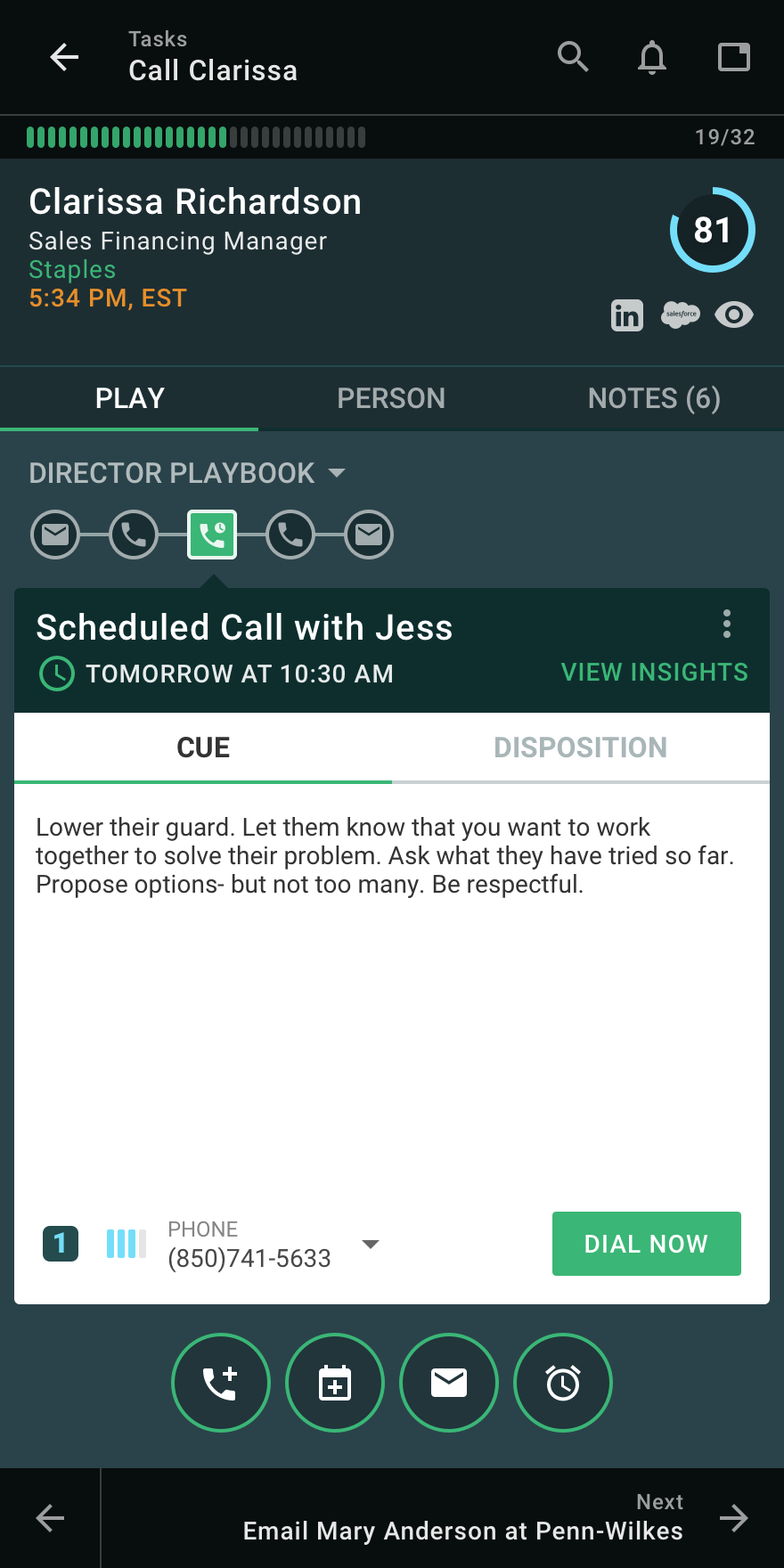 Scheduling a call within Playbooks
