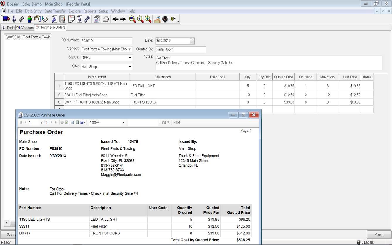 Dossier Fleet Maintenance Software - 5