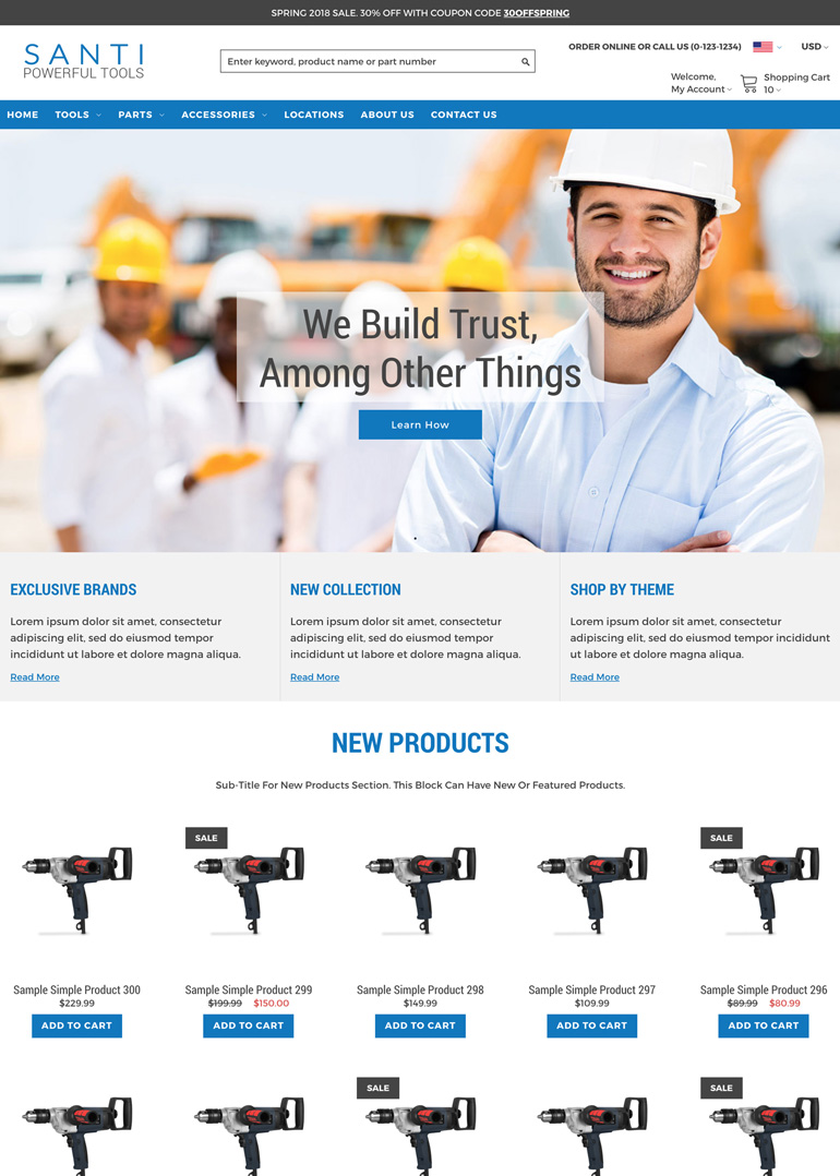Zoey comes with a number of free, mobile-responsive themes that are designed to help get merchants moving quickly to getting a new store launched.