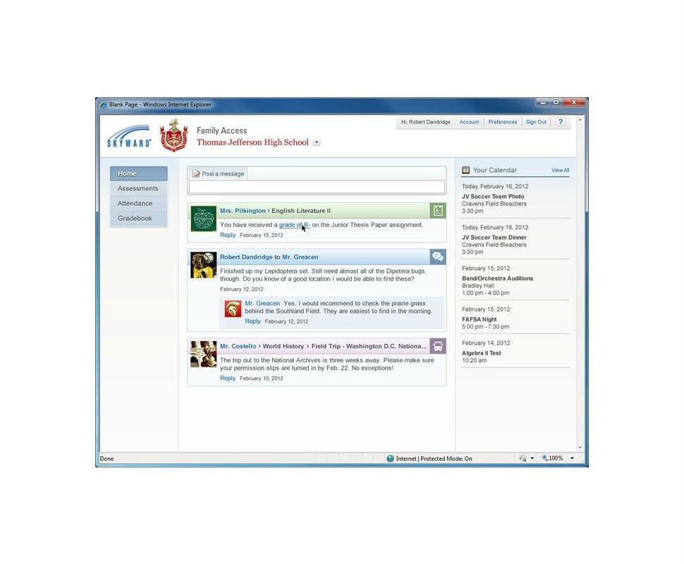SKYWARD Student Management Suite Software - Parent/student portal