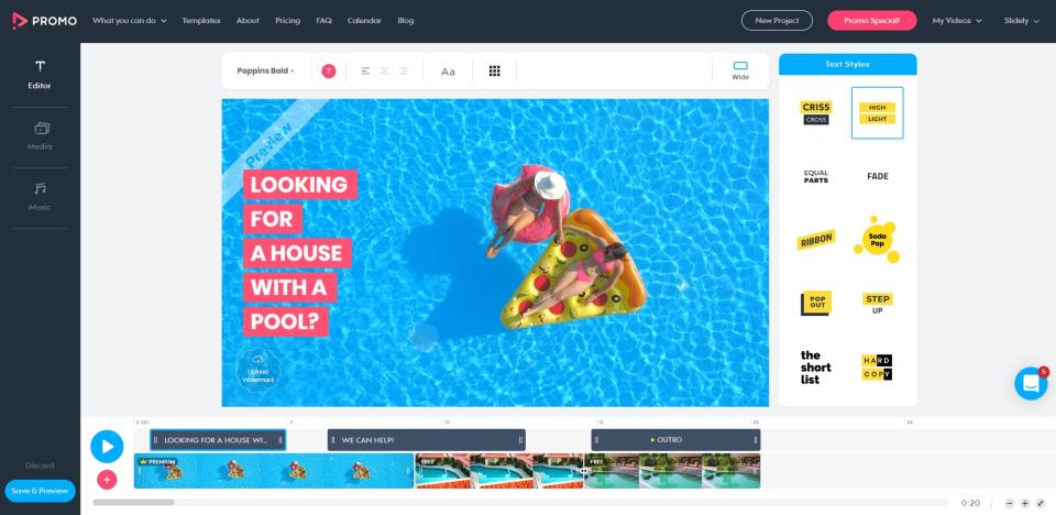 Promo.com Software - Promo.com video editor