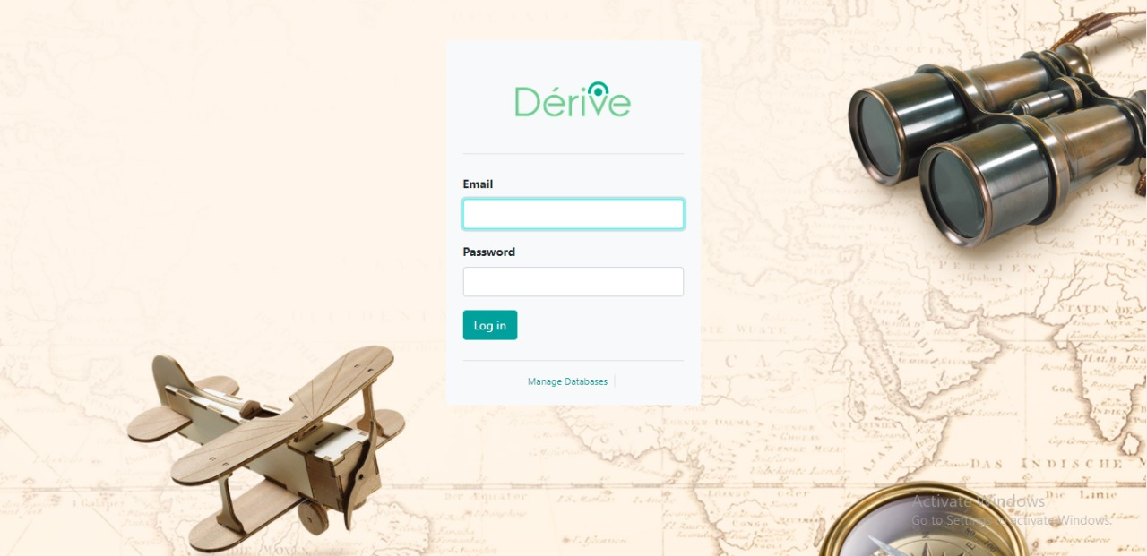 Derive - Web App Login Screen