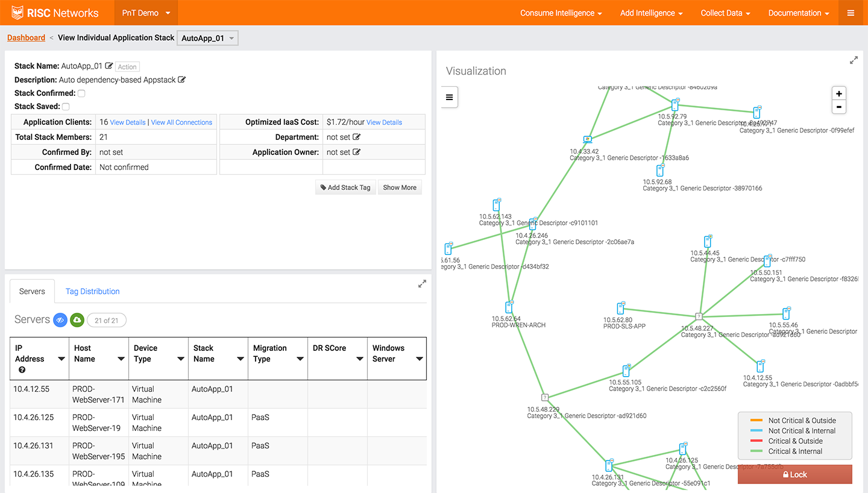 CloudScape Software - Network visualization
