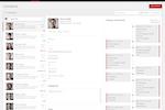 Captura de pantalla de iPresso: The contact manager includes a full contact activity history