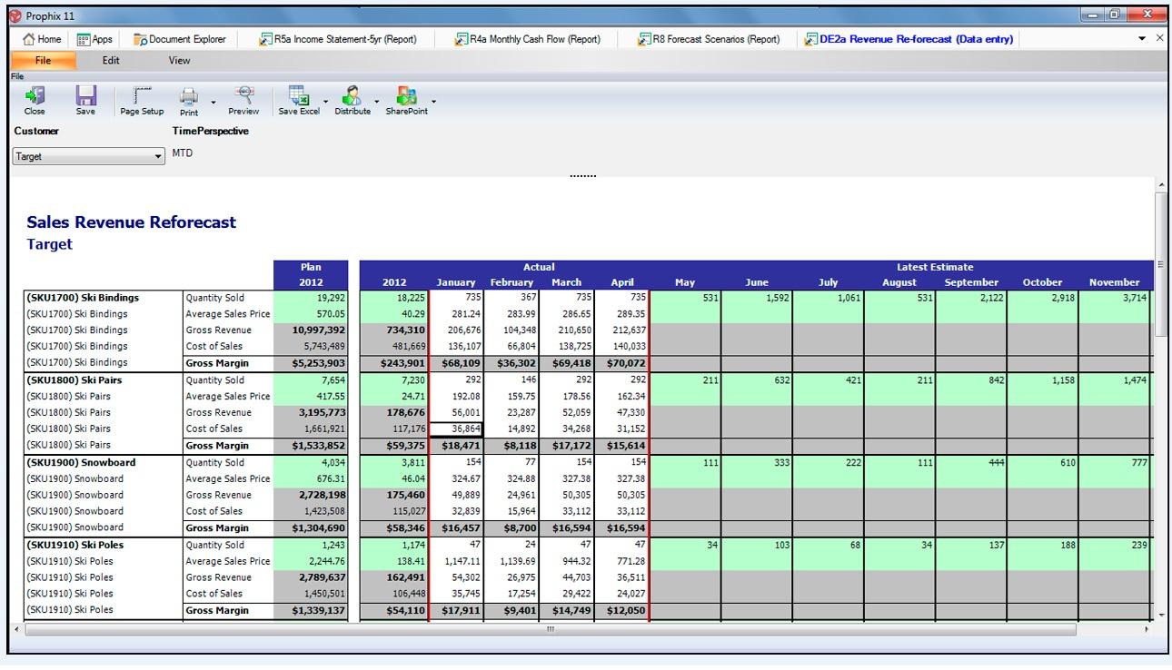 Prophix Software - Revenue planning
