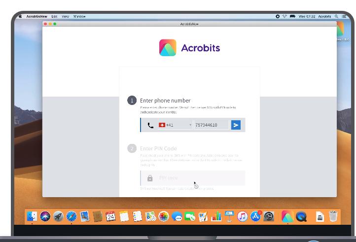 Acrobits calling screenshot