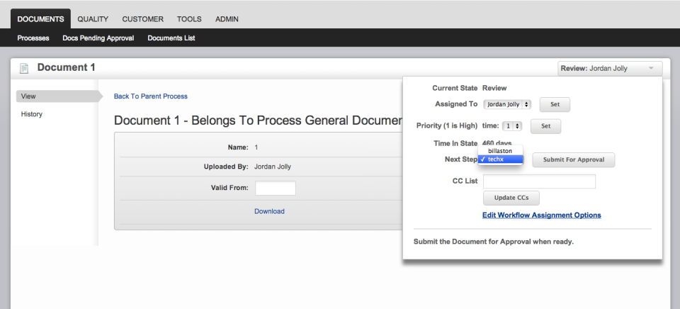 Cetec ERP Software - Documents