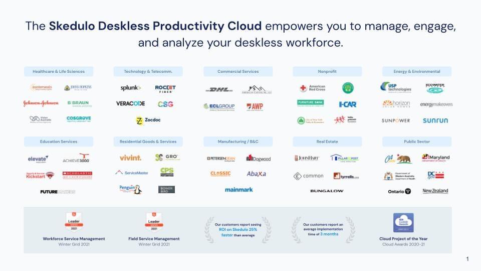 Skedulo Software - Skedulo helps organizations across a wide range of industries