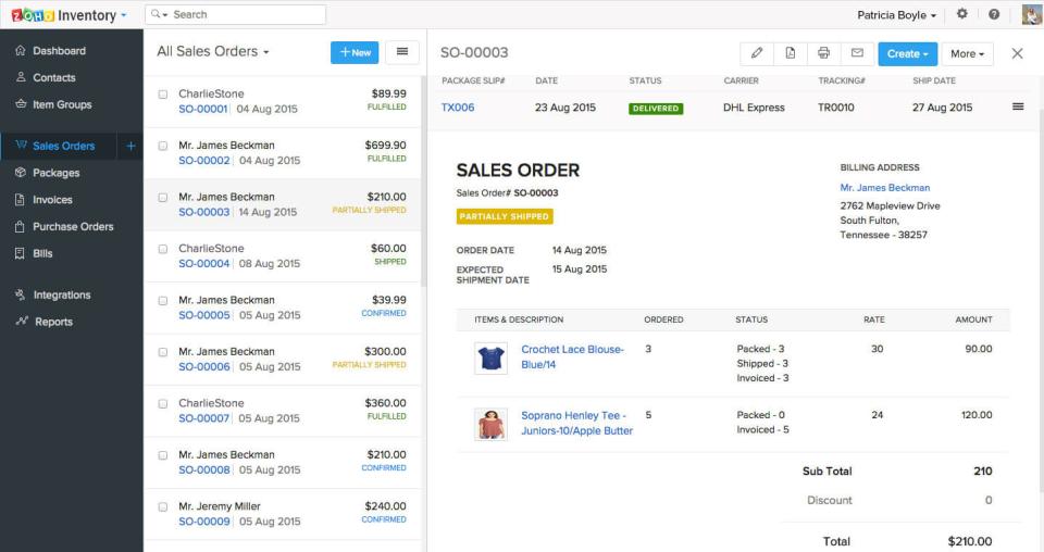 Zoho Inventory Software - 2