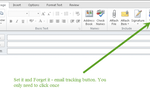 Legal Track screenshot: Users only need to click the track button once and all subsequent emails will be automatically archived under a particular case file