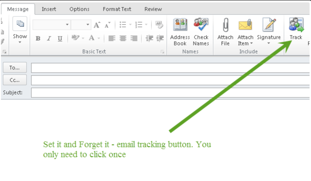 Users only need to click the track button once and all subsequent emails will be automatically archived under a particular case file