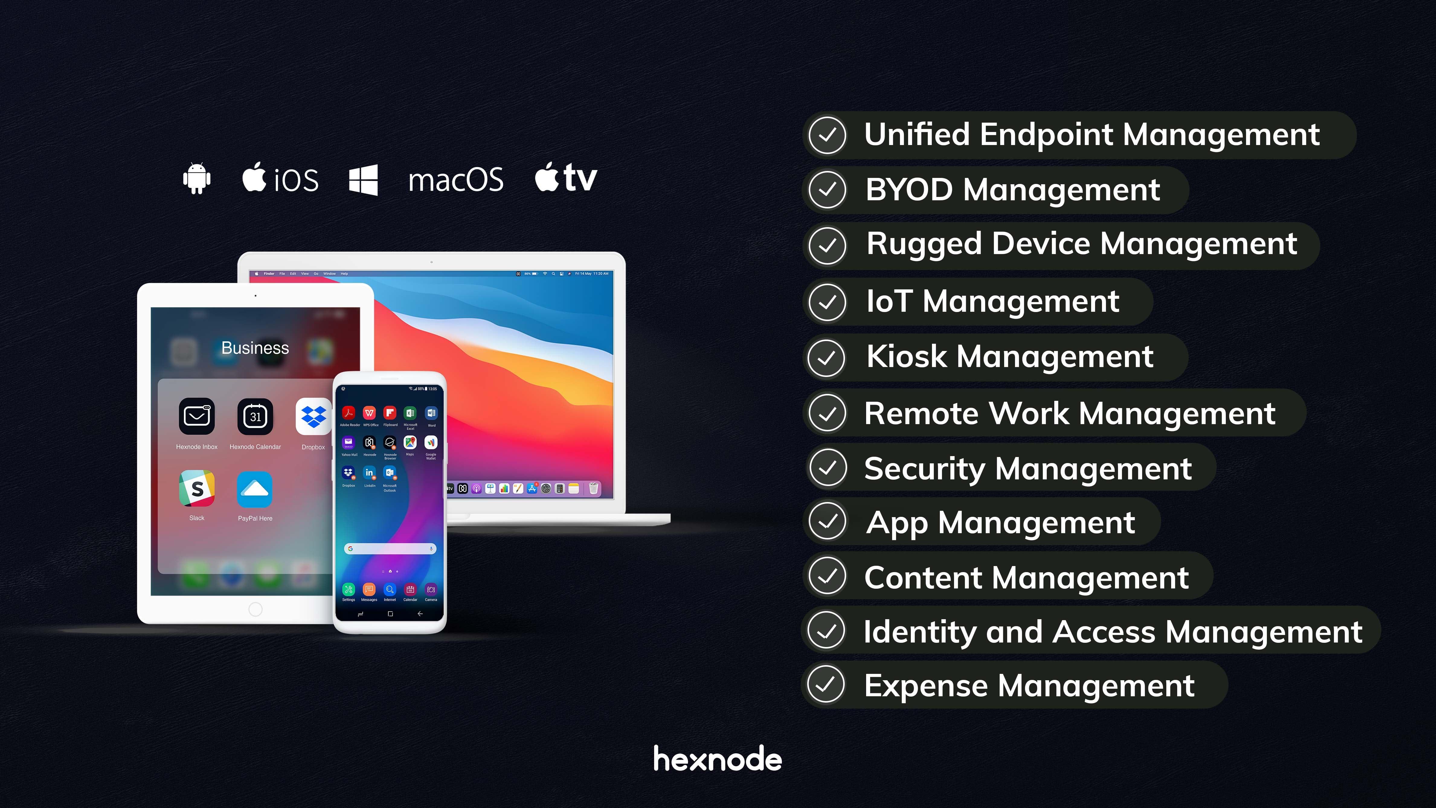 Hexnode UEM Software - Hexnode UEM Solutions