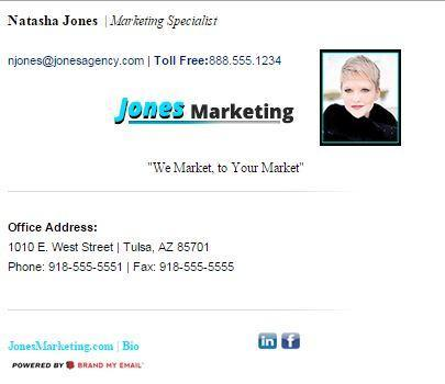 Brand My Email email signature