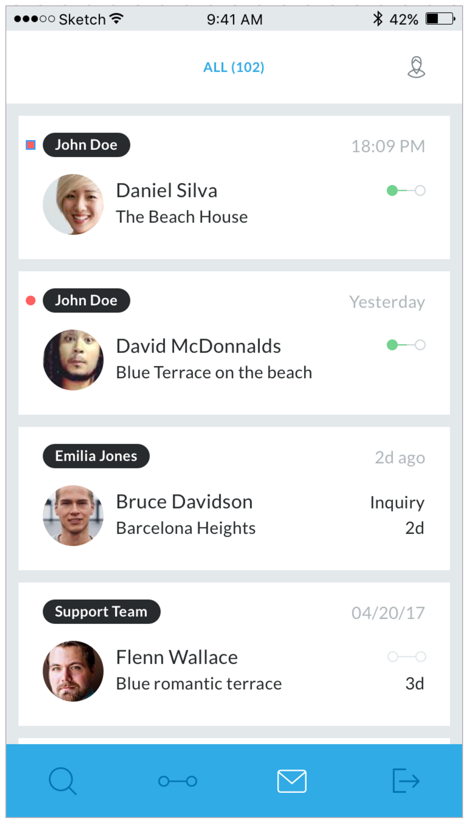 Guesty Software - The inbox shows all conversations with guests
