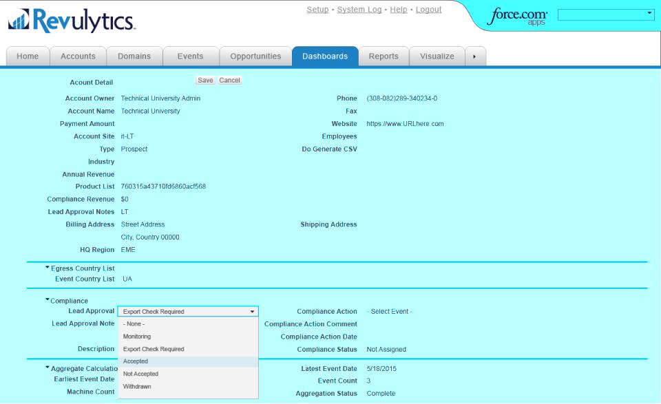 Revenera Compliance Intelligence account details