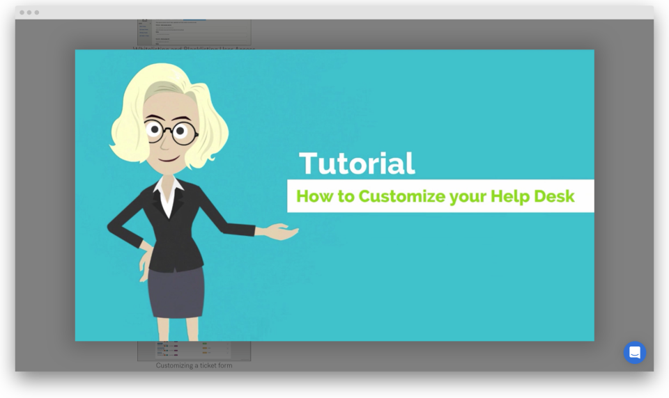 Customize your helpdesk