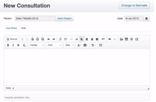 Create and log new consultations