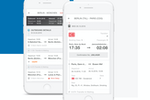 Lanes & Planes screenshot: Itinerary overview and ticket management
