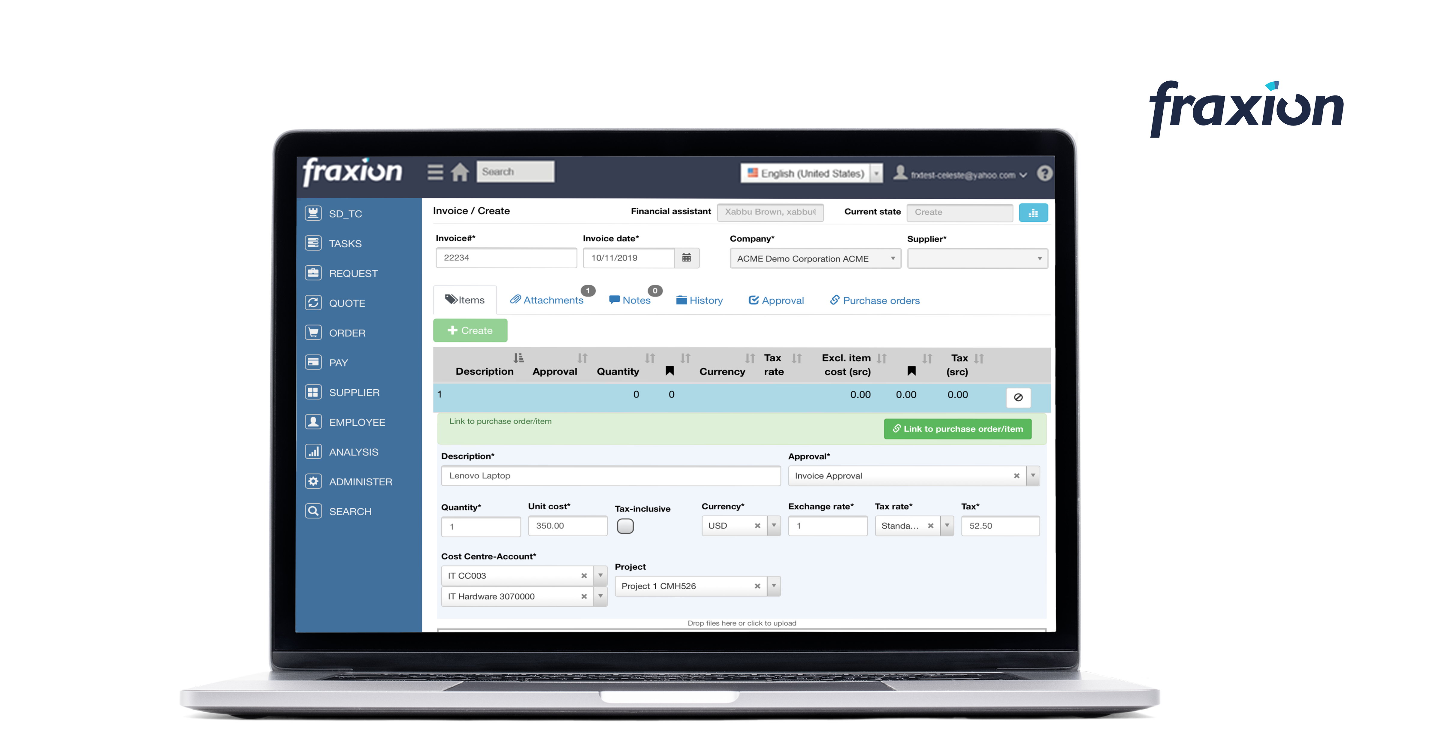 Invoice approvals and 2 or 3-way matching capabilities