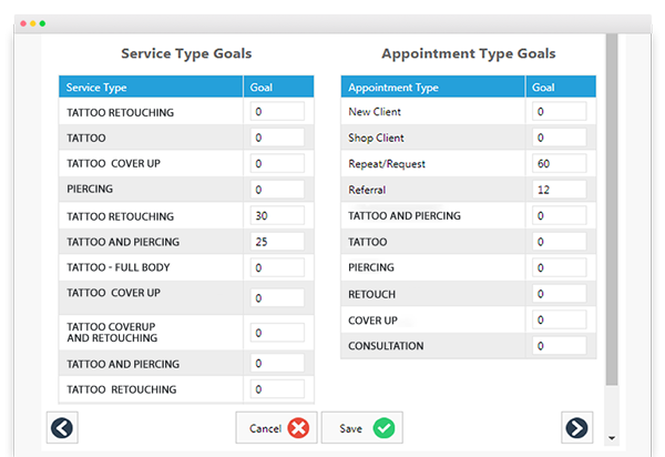 Envision Ink goal setting and tracking