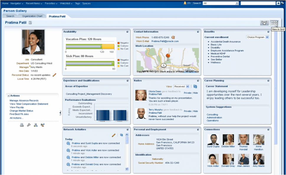 Oracle Fusion Cloud ERP Software - Projects resource management