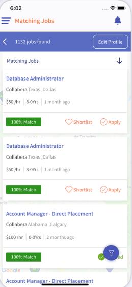 ClikSource candidate matching screenshot