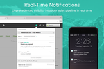 Zendesk Sell screenshot: Real-time notifications provide insights into the sales pipeline in real time