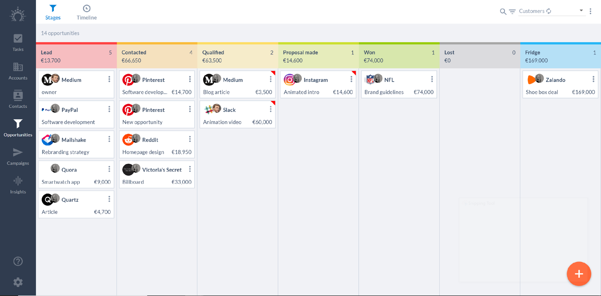 Salesflare Software - Visualize your pipeline