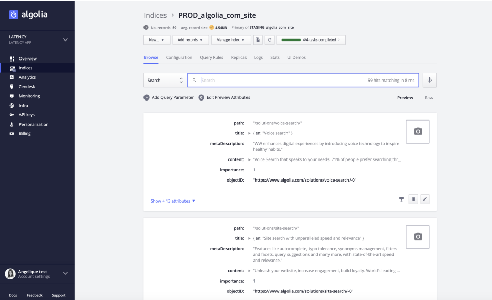 Algolia Software - 3