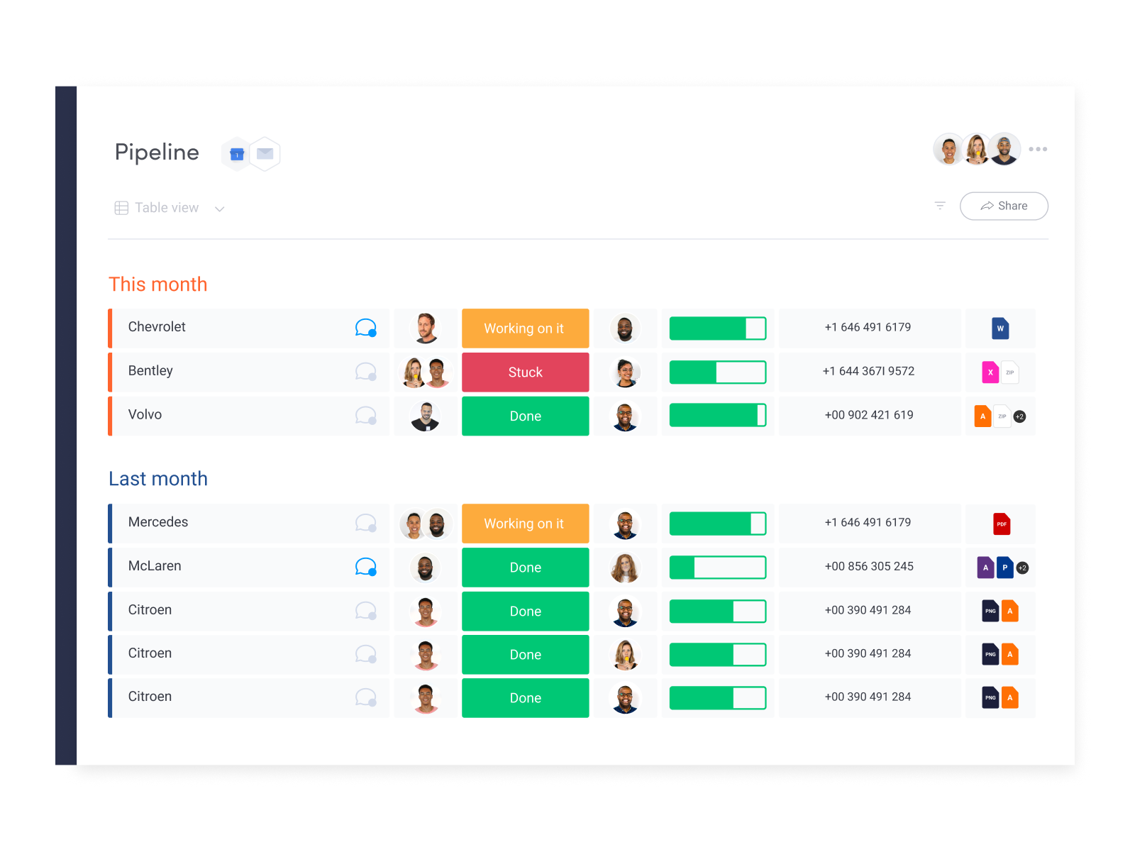 A new way to manage your CRM! Plan. Organize. Track. In one visual, collaborative space.