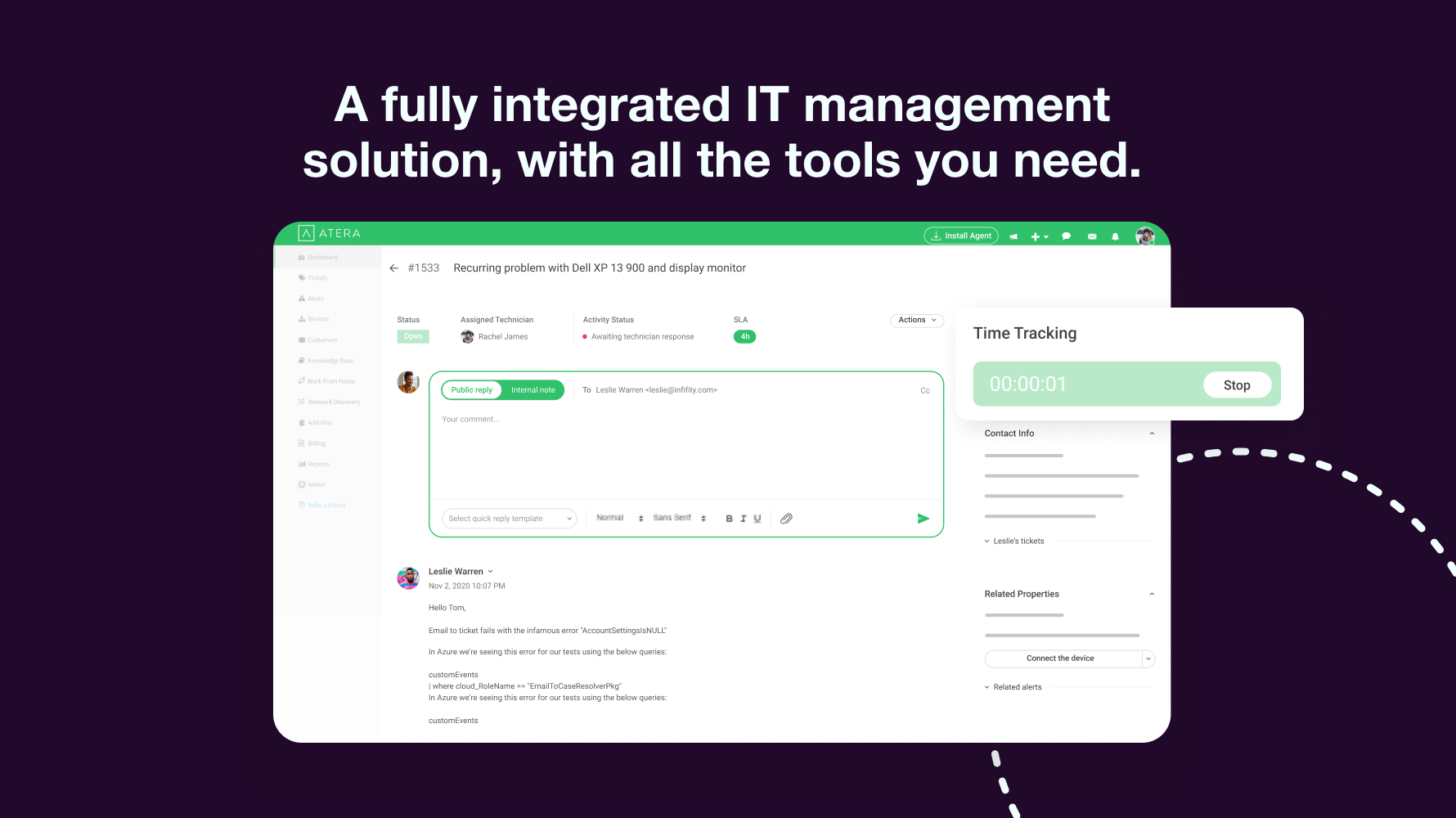 Fully Integrated IT Management Solution