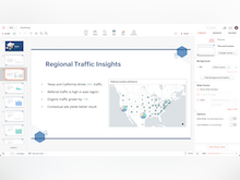 Zoho Analytics Software - Create beautiful presentations with Zoho Show by seamlessly embedding analytical insights.