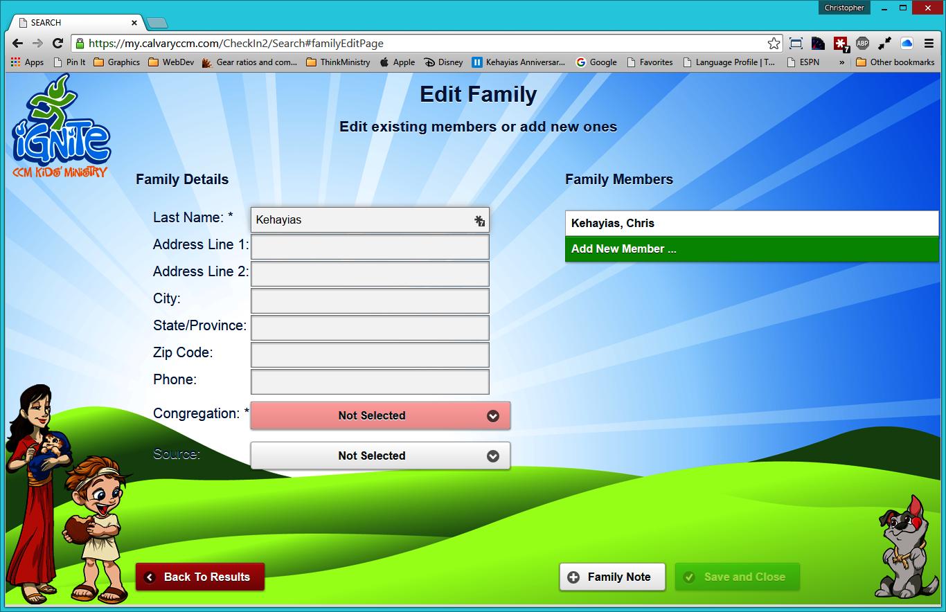 MinistryPlatform check-in
