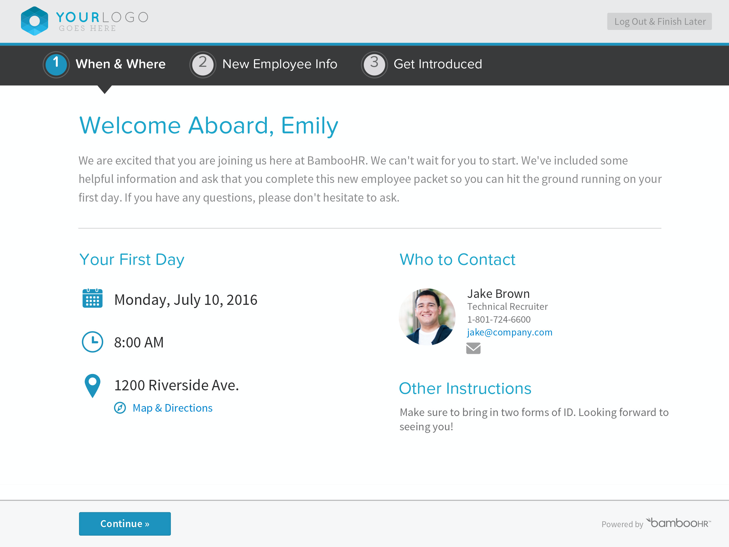 BambooHR Software - BambooHR Employee Onboarding
