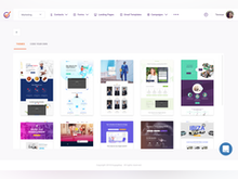 EngageBay Software - Create a custom landing page for marketing campaigns in order to optimize conversions