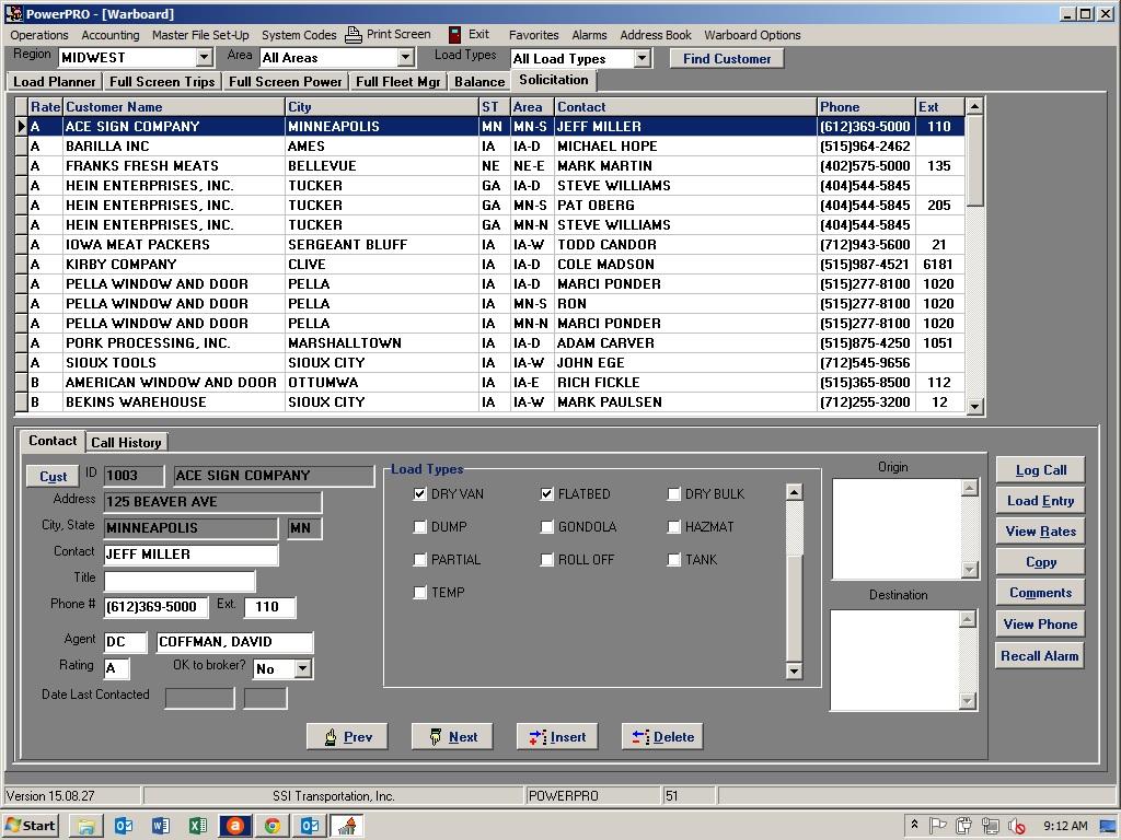 PowerPRO Software - Account management