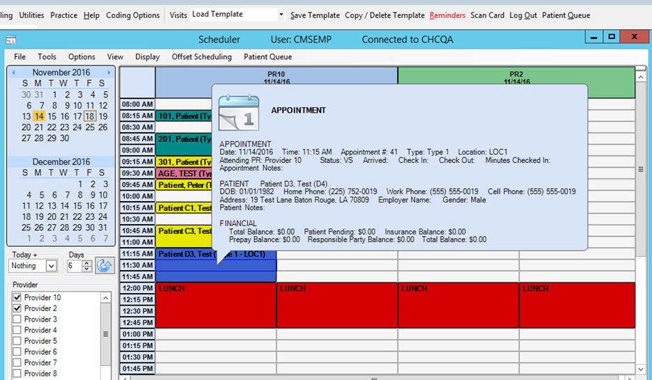 MyWINMED EMR Software - Appointment Scheduler