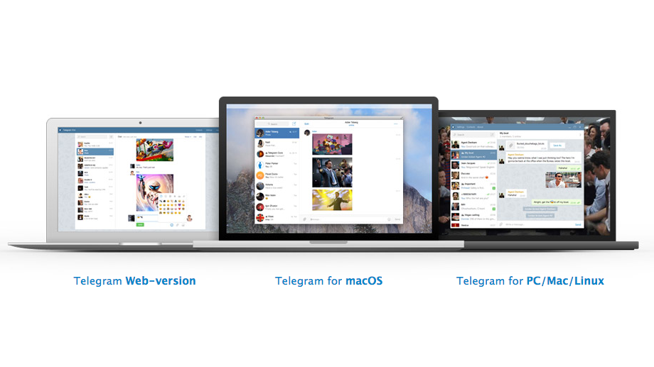 Telegram is available within the browser, along with desktop platforms spanning macOS, PC, Mac and Linux
