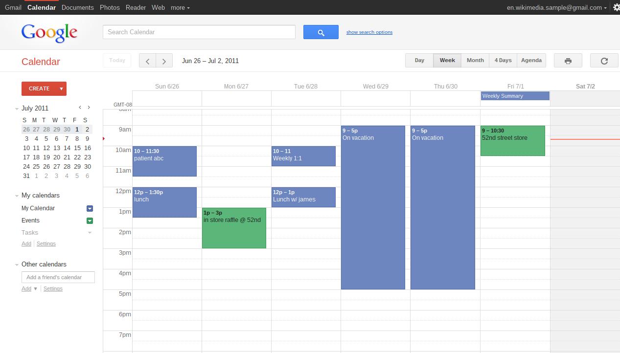 Google Calendar Software - 1