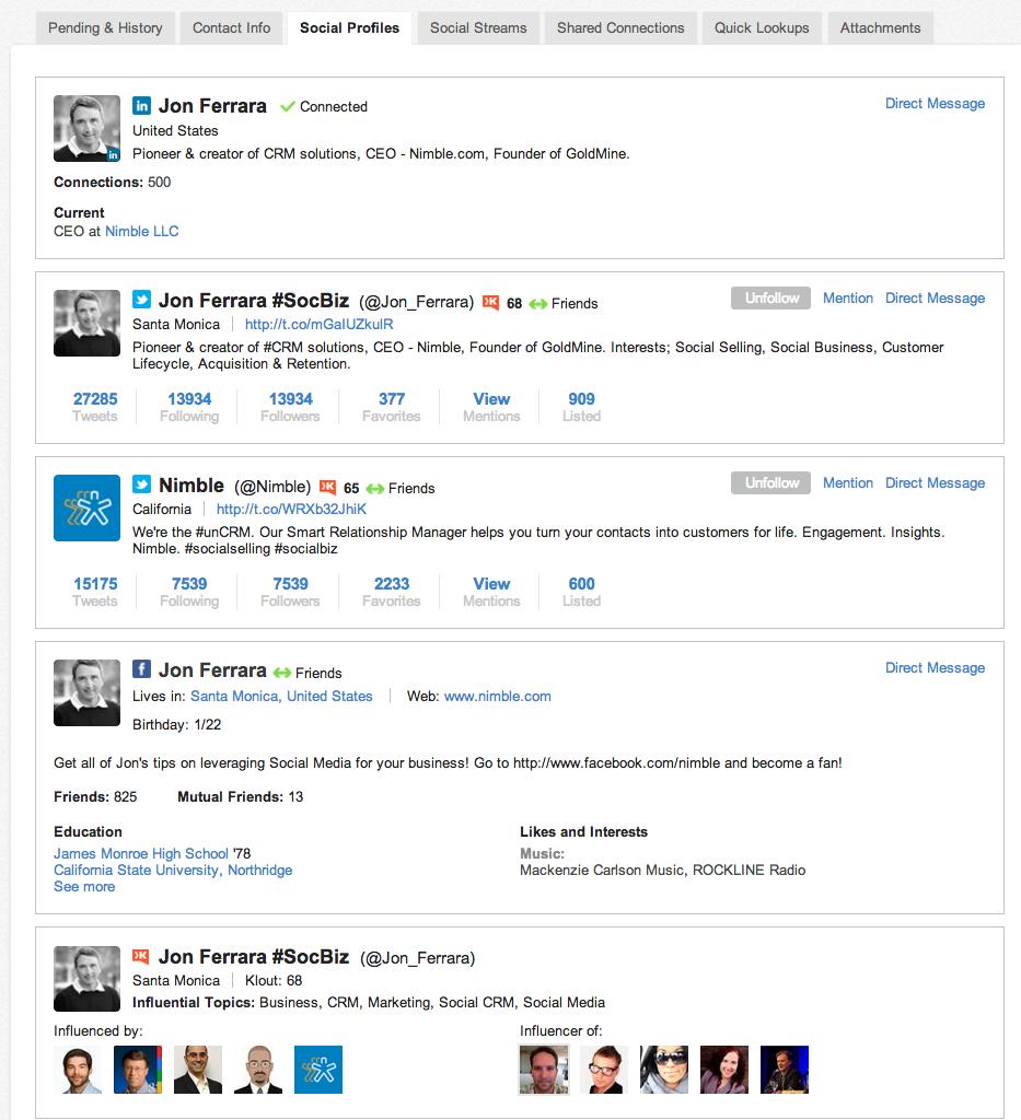 Nimble Software - Nimble Social profile