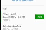 Capture d'écran pour StarLeaf : StarLeaf manage meetings