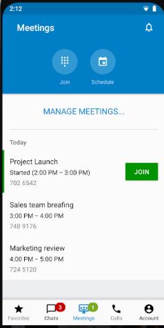 StarLeaf manage meetings