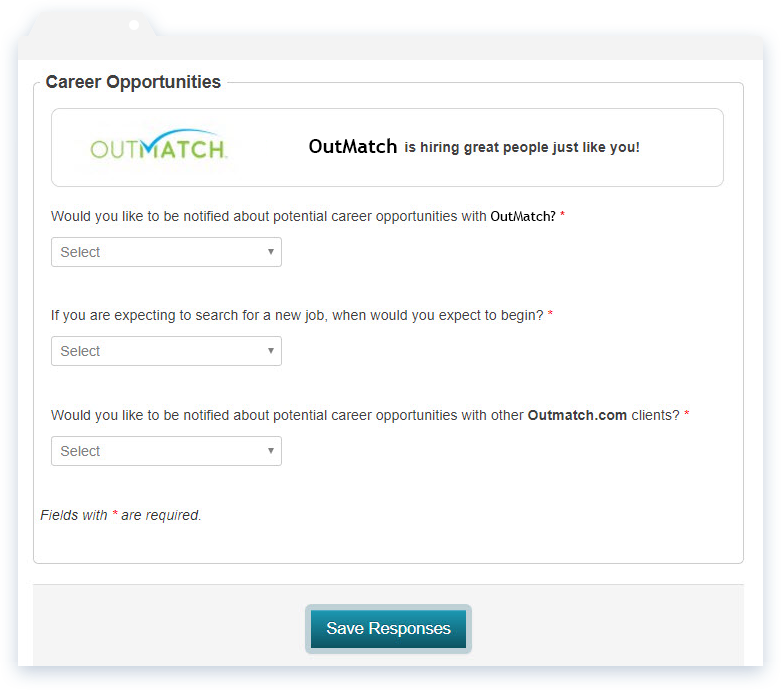 Potential candidates and reference contacts can opt to join a talent network and get notified of subsequent opportunities