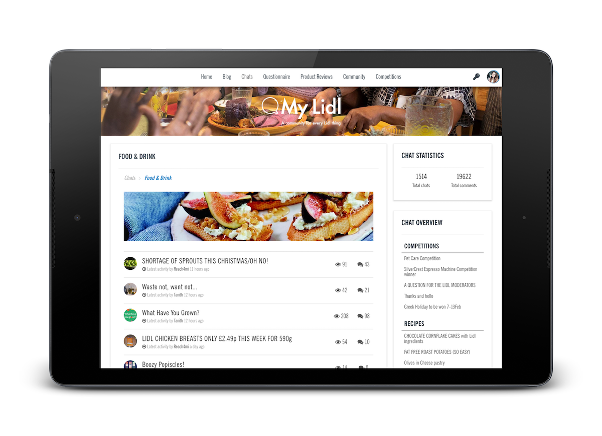 CMNTY Platform home page